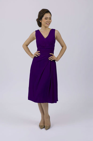 Deep Purple Classic Short Bridesmaid/Prom Dress,BD98018