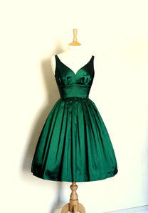 Emerald Green Taffeta Sweetheart Prom Dress BD98014