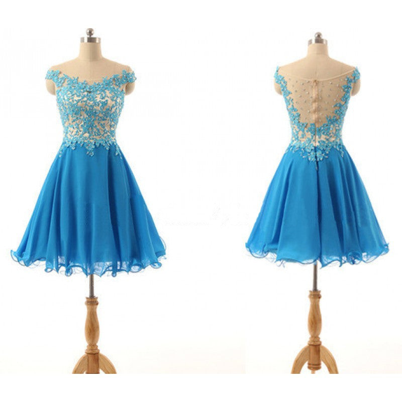 Blue Homecoming dress,Short prom Dress,Lovely Prom Dresses,2016 Party dress for girls,BD301