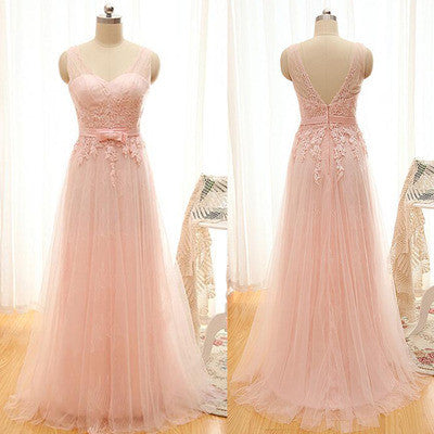 Pink Prom Dresses,Tulle Prom Dresses,Cheap Prom Dress,Long Prom Dress, 2016 Prom Dress,Bridesmaid dress,BD130