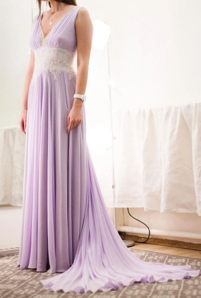 Levander Light Purple Wedding Dress, BH91224