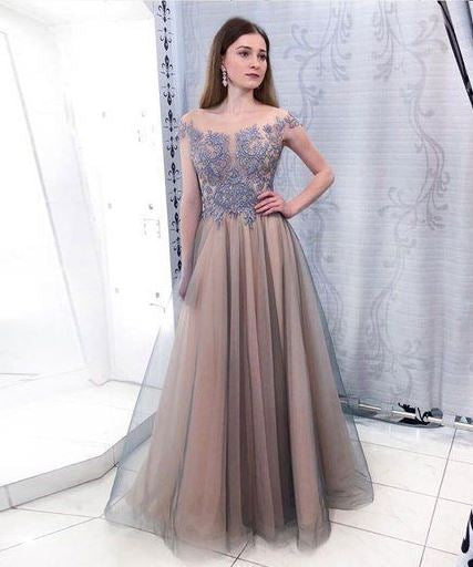 Elegant Tulle Evening Dress, Long Prom Dress, BH91213
