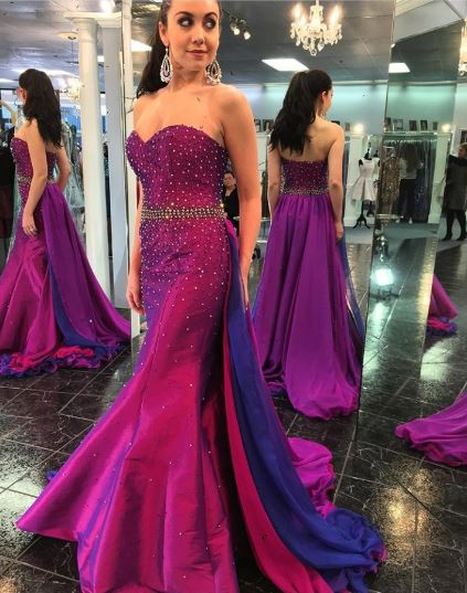 Sweetheart Neckline Prom Dress with Beading,BH91158