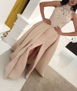 lace long prom dress, lace evening dress for teens,PD455867