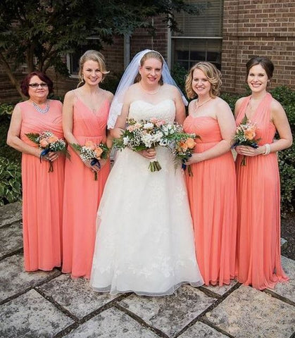 Plus Size Mismatched Bridesmaid Dresses,BH91116