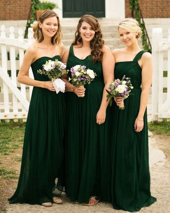 Mismatched Custom Cheap Long Bridesmaid Dresses,BH91127