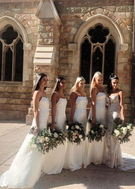 Bridesmaid Dresses White, Cheap Bridesmaid Dresses, Simple Bridesmaid Dresses,BH91135