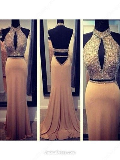 Backless prom Dress,Charming Prom Dress,Long prom dress,Halter prom dress,evening dress,BD026