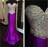 Purple Prom Dresses,Charming Prom Dresses,Sweetheart Prom Dress,Long Prom Dress, Mermaid Prom Dress,BD137