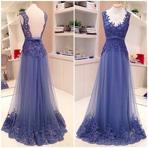 Purple Prom Dresses,Lace Prom Dresses,Backless Prom Dress,Long Prom Dress, 2016 Prom Dress,BD131