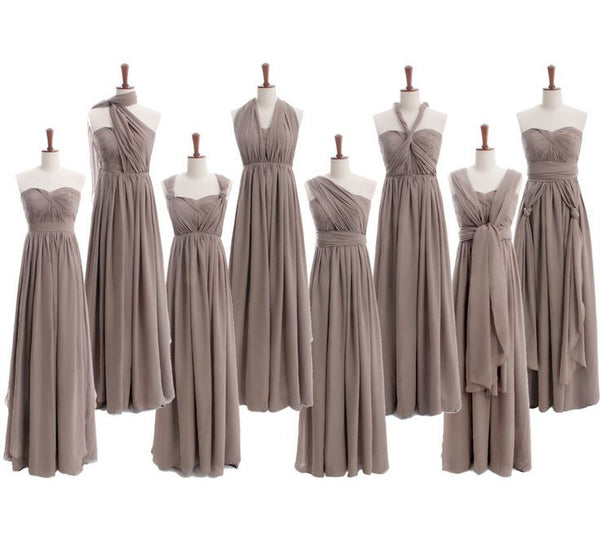 Convertible Bridesmaid Dress,Long Bridesmaid Dress,Chiffon Bridesmaid Dress,Cheap Bridesmaid Dress, BD125