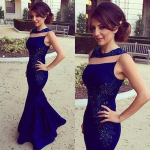 dark blue prom Dress,mermaid Prom Dress,charming prom dress,party dress,Long prom dress,BD1029