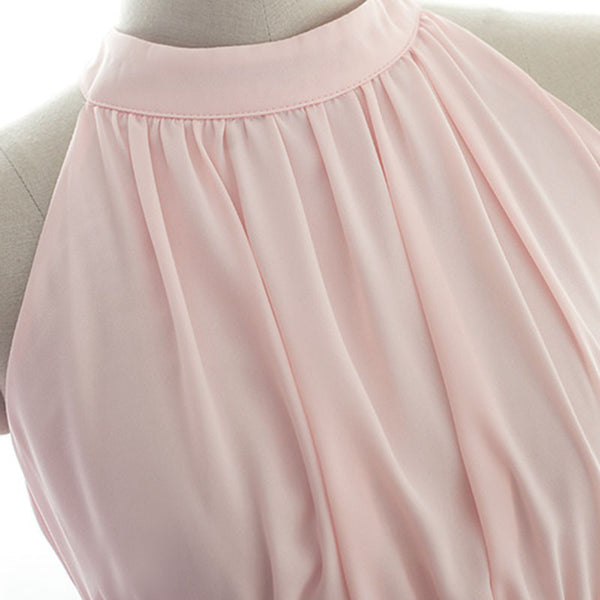 pink bridesmaid dress,short bridesmaid dress,chiffon bridesmaid dress,cheap bridesmaid dress,BD808