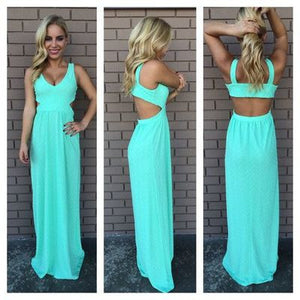 blue prom Dress,chiffon Prom Dress,backless prom dress,long prom dress,evening dress,BD907