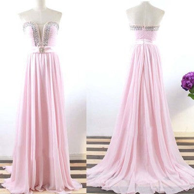 light pink Prom Dress,long Prom Dress,cheap Prom dress,strapless prom Dress,evening dress,BD609