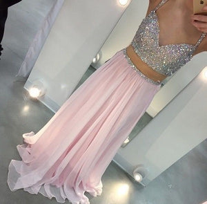 Sparkle Prom Dresses, Pink Prom Dress,Off-shoulder Prom Dresses,Spaghetti Straps Prom Dress,Sweetheart Prom Dresses,PD00219