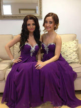 purple bridesmaid dress,long bridesmaid dress,sweetheart bridesmaid dress,charming bridesmaid dresses,BD831