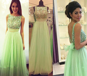 green prom Dress,charming Prom Dress,chiffon prom dress,party dress,Long prom dress,BD1025