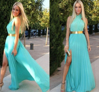 elegant prom Dress,chiffon Prom Dress,slit prom dress,long prom dress,evening dress,BD908
