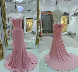 pink prom dress,long prom dress,chiffon prom dress,charming prom dress,2016 prom dress,BD619