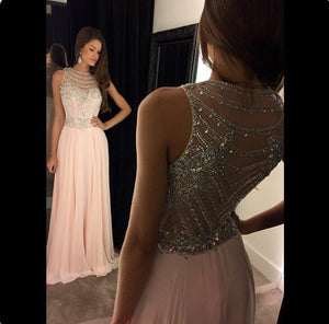 pink prom dress,long Prom Dress,2016 evening dress,formal evening gown,charming beaded prom gown,BD931