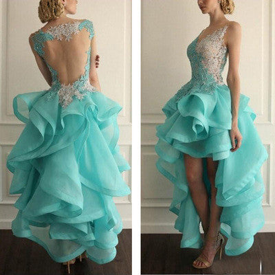 blue prom Dress,backless Prom Dress,puffy prom dress,2016 prom dress,long prom dress,BD902