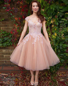 Homecoming dress,ankle length prom Dress,A-line Prom Dresses,lace prom dress,BD1241