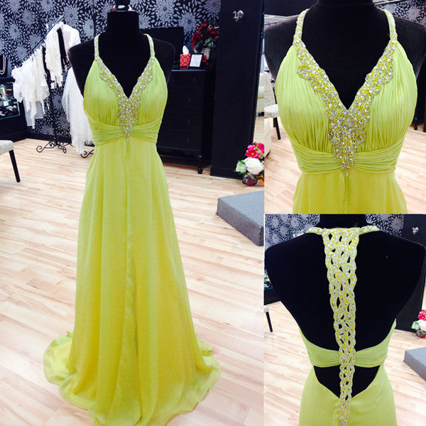 lemon prom Dress,charming Prom Dress,long prom dress,2016 prom dress,evening dress,BD1230
