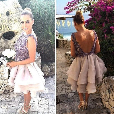 short Homecoming dress,pretty prom Dress,backless Prom Dresses,Party dress for girls,BD1240