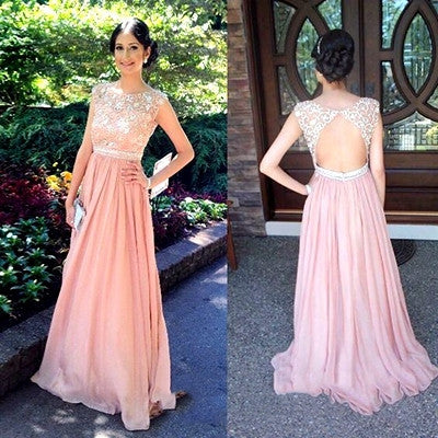 Pink Prom Dresses,Long Prom Dress,Dresses For Prom,Cheap Prom Dress,Charming Party Dress,BD153