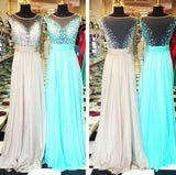 Long Prom Dresses,Charming Prom Dress,Dresses For Prom,2016 Prom Dress,See-through Party Dress,BD156