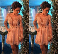 Short prom Dress,Charming Prom Dresses,Long sleeves prom Dress,homecoming dress,Party dress for girls,BD159
