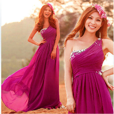 one shoulder Prom Dress,long Prom Dress,cheap Prom dress,charming prom Dress,evening dress,BD610