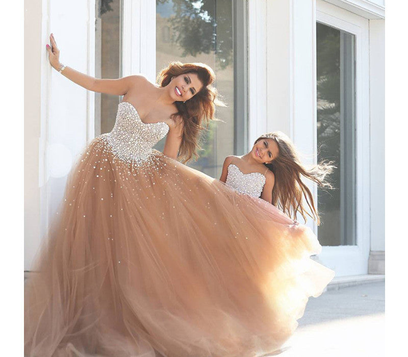 sweetheart prom Dress,tulle Prom Dress,long prom dress,Charming prom dress,2016 prom gown,BD1402