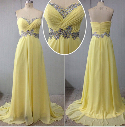 yellow prom Dress,long Prom Dress,charming prom dress,party dress,BD1407