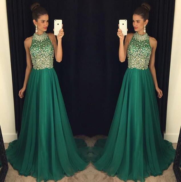 green prom Dress,charming Prom Dresses,Evening Dress,long prom dress,new prom dress,BD1654
