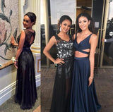 black prom Dress,lace Prom Dresses,long prom dress,evening dress,2016 party dress,BD1664