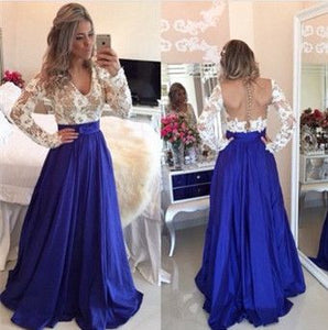 lace prom Dress,long sleeves Prom Dresses,long prom dress,evening dress,charming prom dress,BD1672