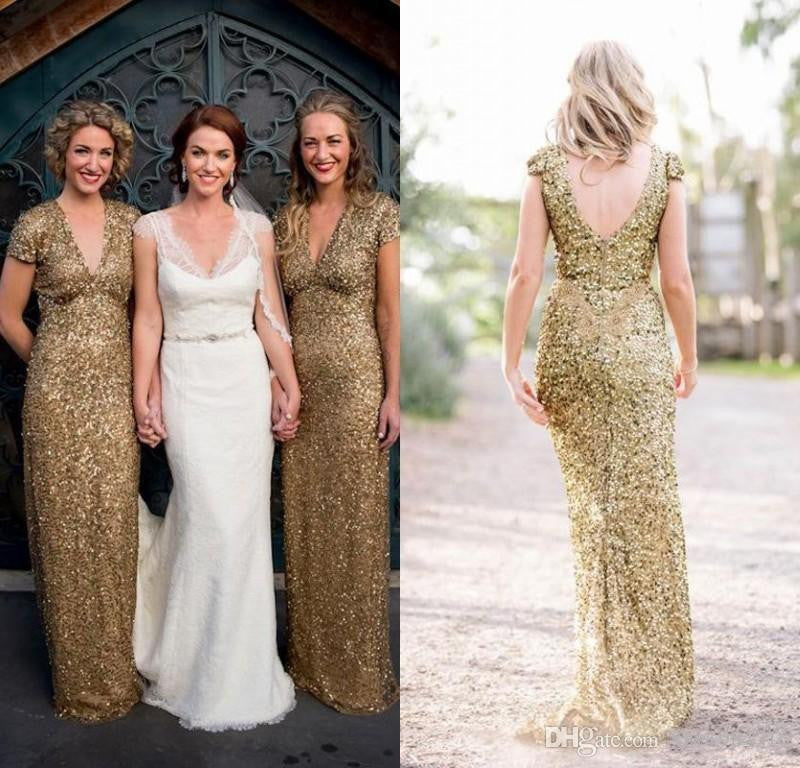 Deep V-neck Bridesmaid Dresses,Sequin Bridesmaid Dress,Charming Bridesmaid Dress,Cheap Bridesmaid Dresses,New Arrival Bridesmaid Dress,PD00191