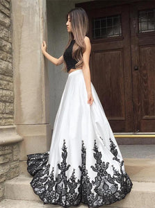 Two Piece Prom Dresses,Long Prom Dress,Modern Prom Dress,072610