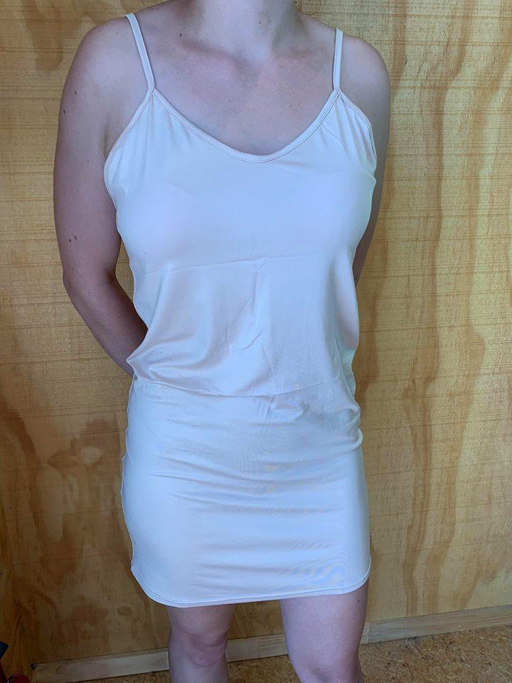 Thin Strap Slip Dress Nude