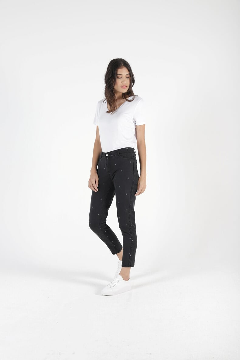 Blair Reversible Jean Star Print