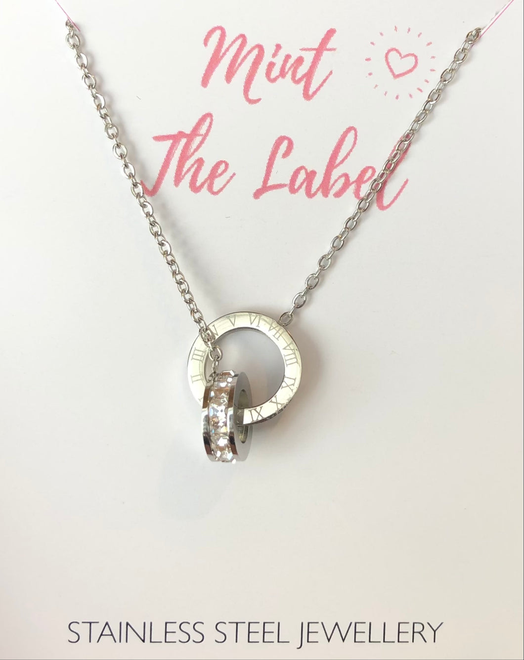 Linked In Time Necklace Silver