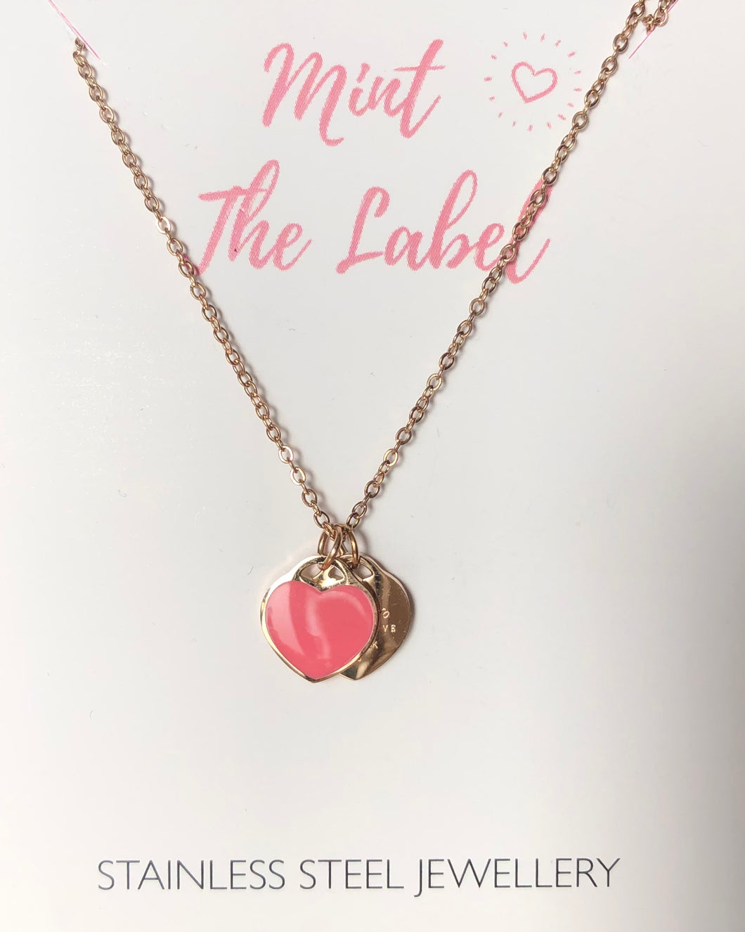 Forever Love Necklace Rose Gold