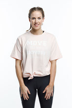 Blush Pink With White Slogan Print Top