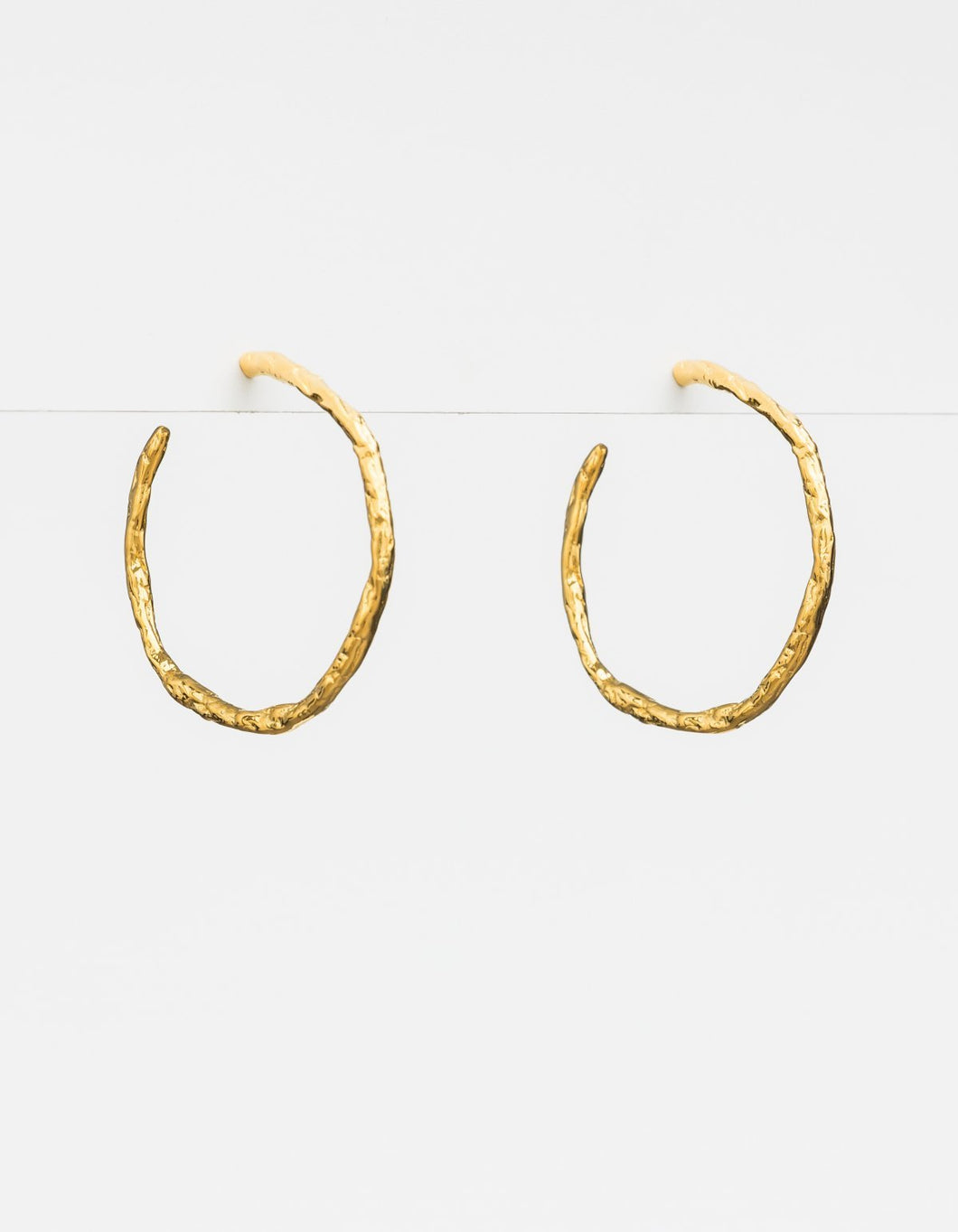 Gold Vine Hoop Earrings