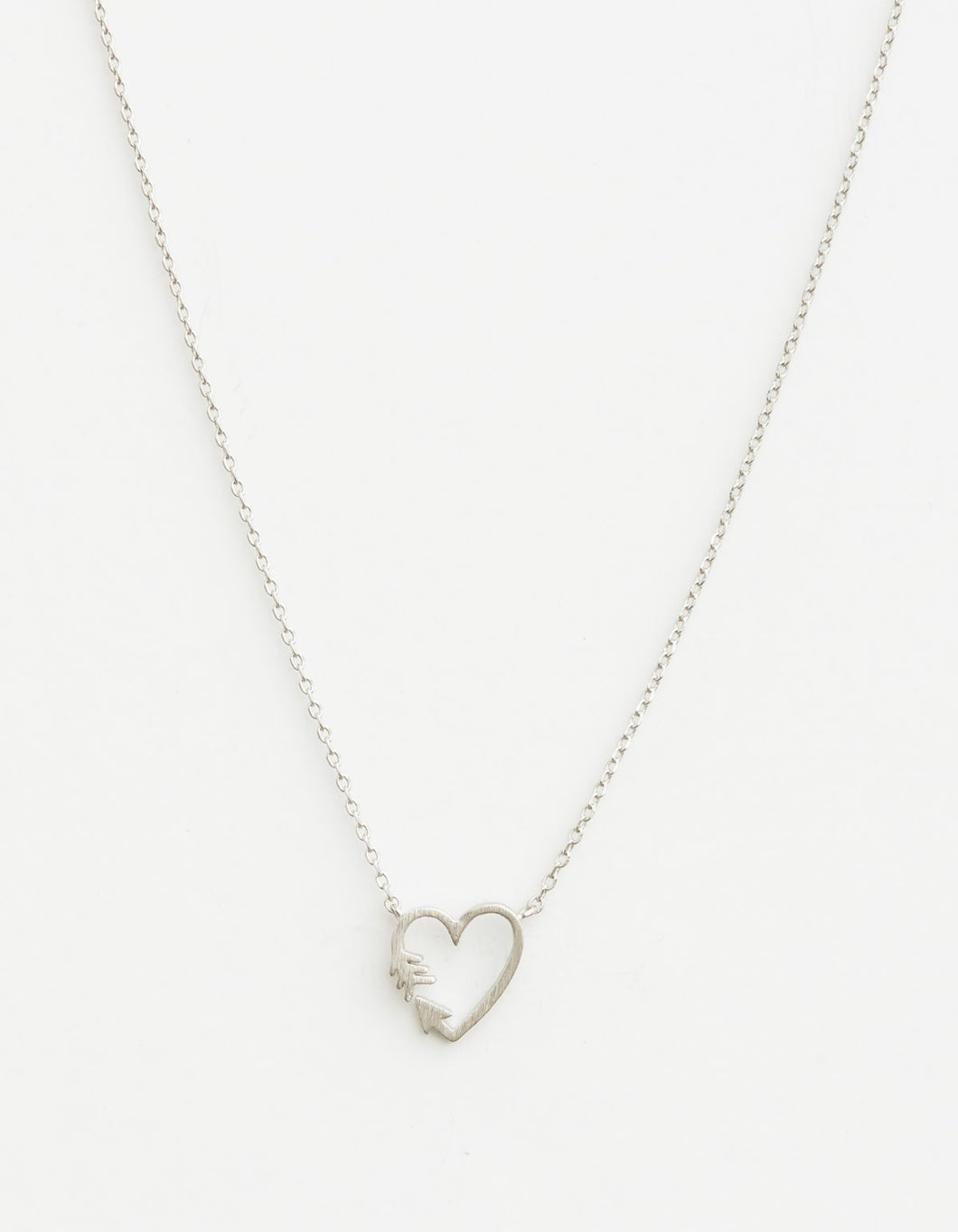 Silver Heart/Arrow Necklace