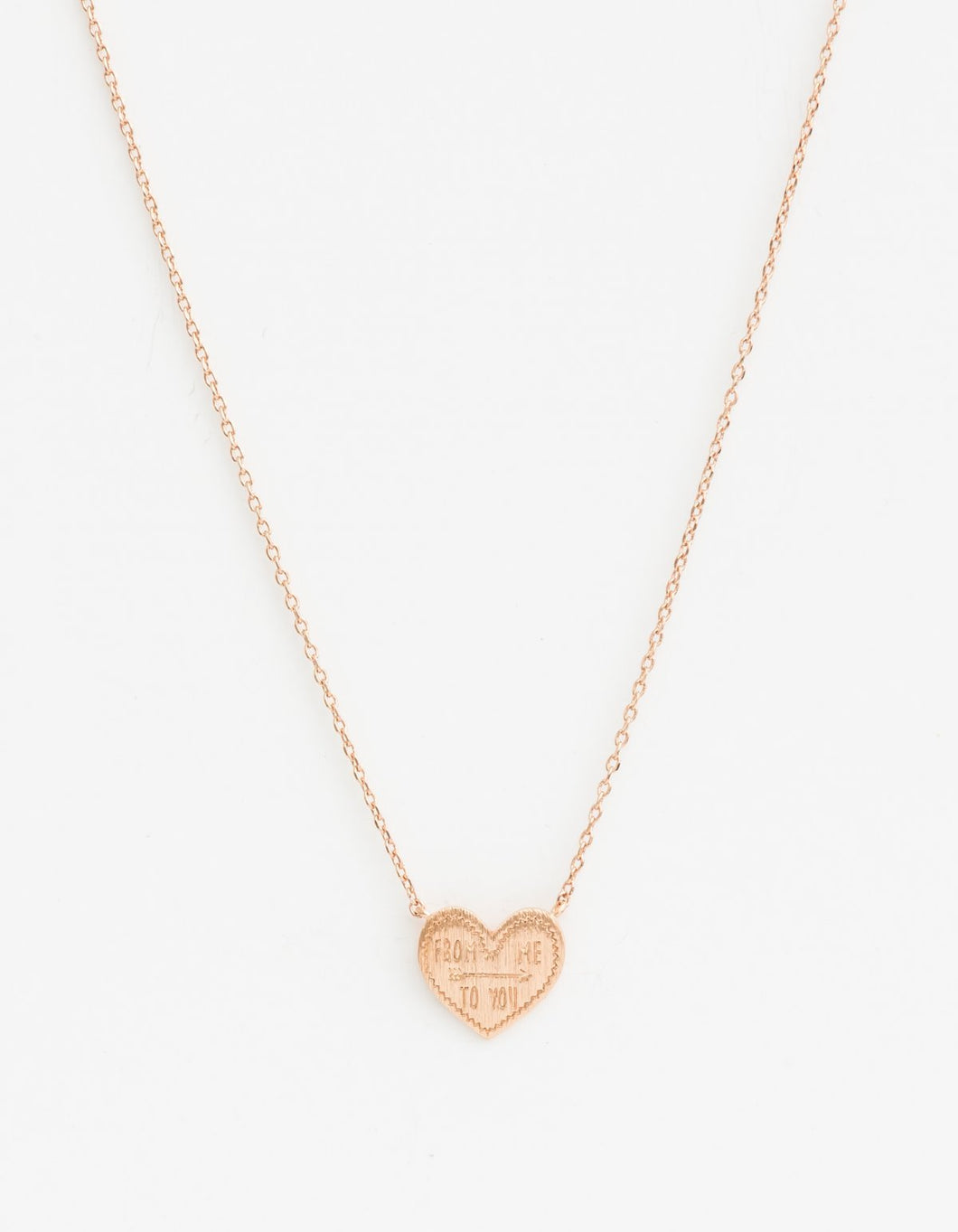 Rose Gold Heart From Me Necklace