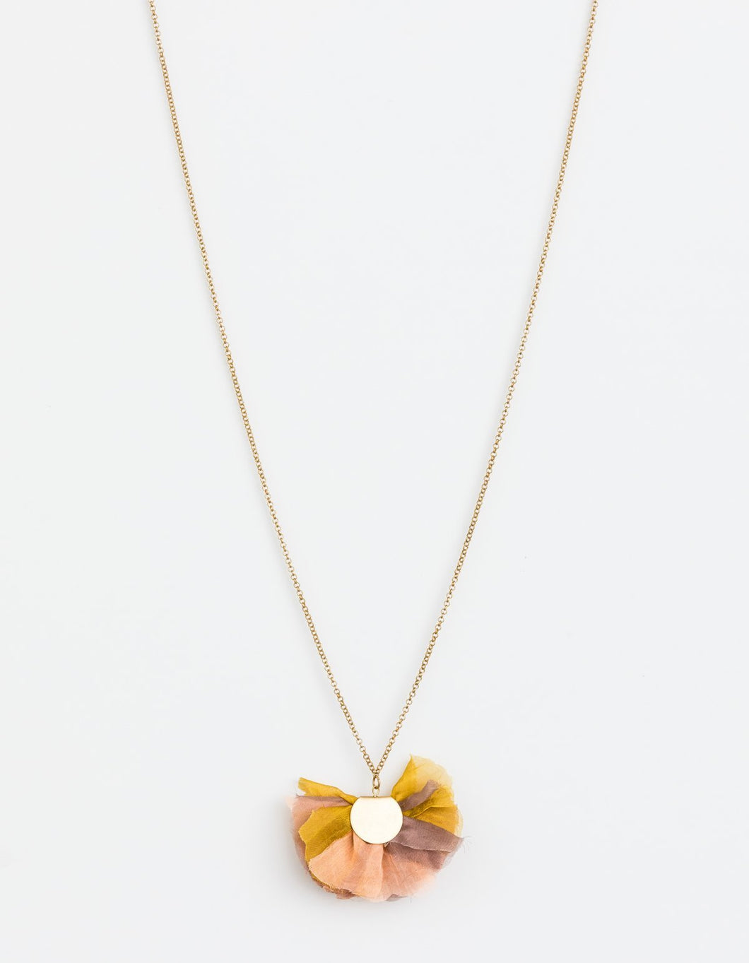 Gold Petal Organza Necklace