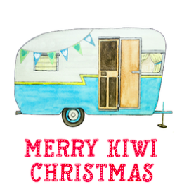 Merry Kiwi Christmas Card